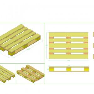 Tấm palet gỗ xuất khẩu tiêu chuẩn Châu Âu